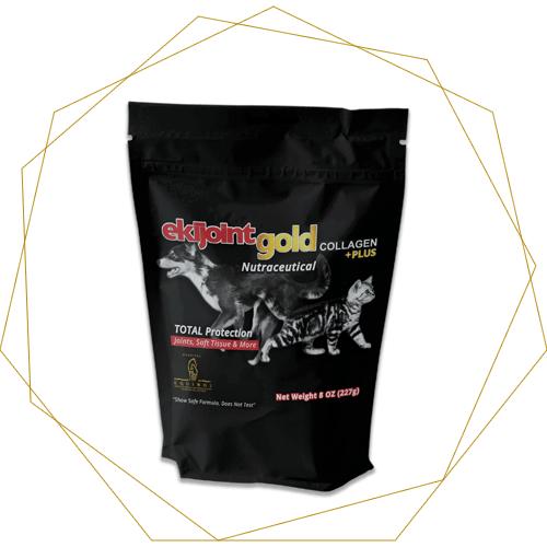 EkiJoint Gold Collagen + Plus - Fórmula para Mascotas 225 gr.